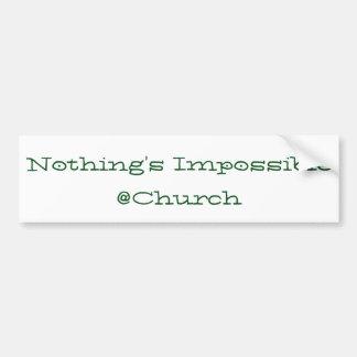 Nada es imposible pegatina del @Church