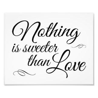 Nada es más dulce que muestra del boda del amor foto