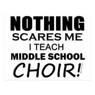 Nada me asusta coro de escuela secundaria postales