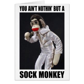 Nada pero una tarjeta de felicitación del mono del