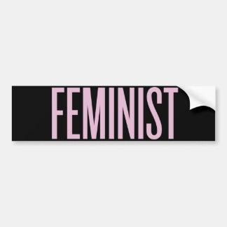Nada tiene gusto de feminismo por la mañana pegatina para coche