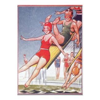 """Nadada 4,5 x 6,25"""" del vintage de la fiesta en la invitación 11,4 x 15,8 cm"""