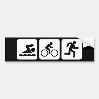 Nadada, bici, funcionamiento - Triathlon Pegatina Para Coche