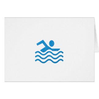 Nadador 101 de la nadada del éxito de la natación tarjeta de felicitación