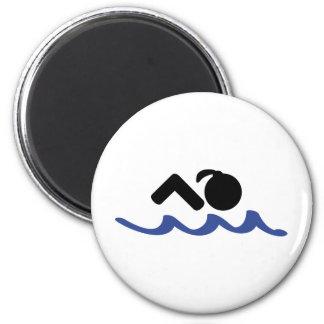 nadador de sexo femenino imanes para frigoríficos