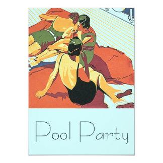 Nadadores frescos de Deco de la fiesta en la Invitación 11,4 X 15,8 Cm