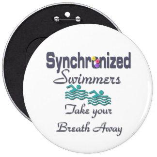 Nadadores sincronizados chapa redonda de 15 cm