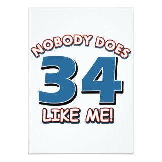 ¡Nadie hace 34 como mí! Invitación Personalizada