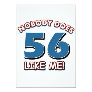 ¡Nadie hace 56 como mí! Invitacion Personal