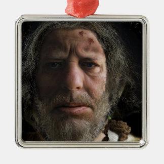 Nafets Neandertalensis Adorno Navideño Cuadrado De Metal