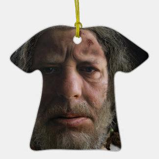 Nafets Neandertalensis Adorno Navideño De Cerámica En Forma De Camiseta