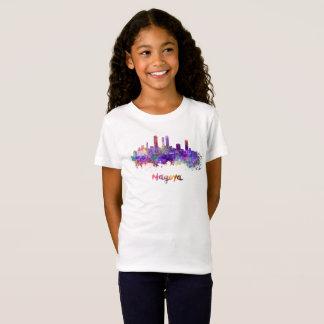 Nagoya skyline in watercolor camiseta