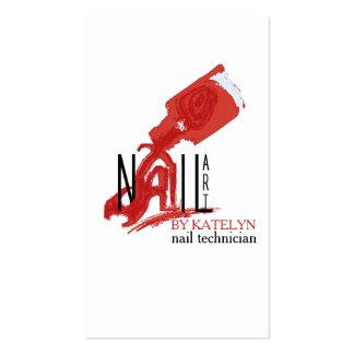 NailArt - negocio/tarjeta de visita Tarjetas De Visita