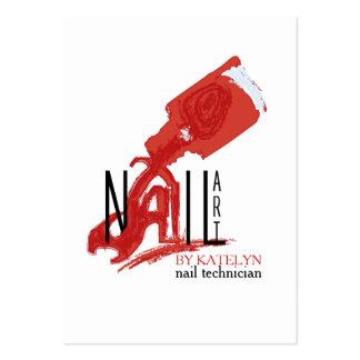 NailArt - tarjeta del negocio/del horario Tarjetas De Visita Grandes