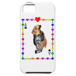Naipe del arco iris de la diversión iPhone 5 Case-Mate protectores