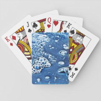 Naipes abstractos azules del agua helada de las
