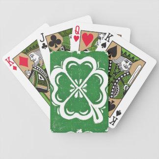 Naipes afortunados del trébol baraja cartas de poker