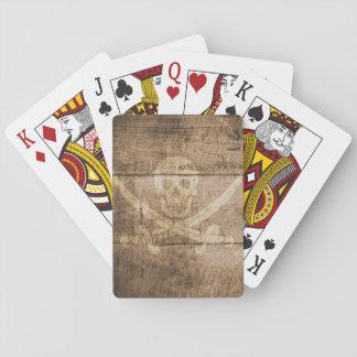 Naipes, caras estándar del índice - cráneo barajas de cartas