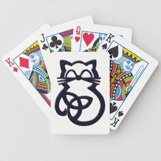 Naipes célticos del gato del nudo negro de la