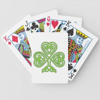 Naipes célticos del trébol cartas de juego