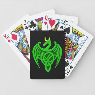 Naipes célticos verdes del dragón