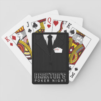 Naipes clásicos de la noche del póker del juego de