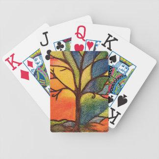 Naipes coloridos del árbol