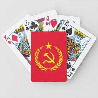 Naipes comunistas de la bandera de la guerra fría