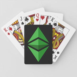 Naipes Crypto del símbolo clásico del logotipo de