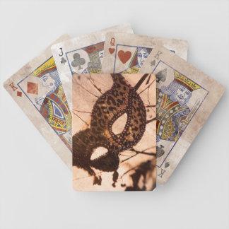 Baraja De Cartas Bicycle naipes de bronce del maschera del estampado
