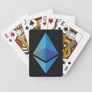 Naipes de Cryptocurrency del símbolo del logotipo