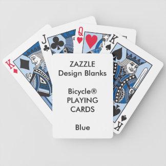 Naipes de encargo personalizados del AZUL de