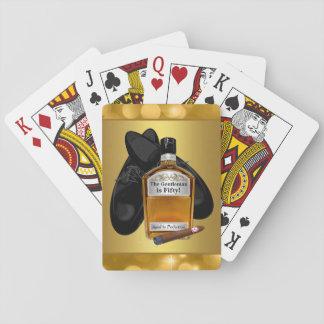 Naipes de juego de tarjeta del póker del whisky y