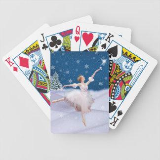 Naipes de la bailarina de la reina de la nieve baraja