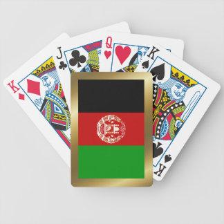 Naipes de la bandera de Afganistán