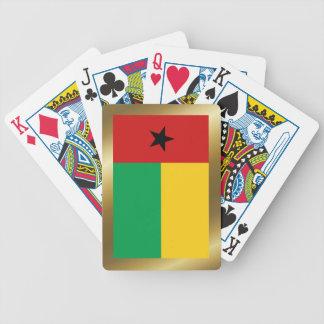 Naipes de la bandera de Guinea-Bissau Baraja