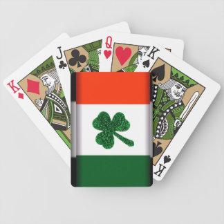 Naipes de la bandera del trébol de Irlanda