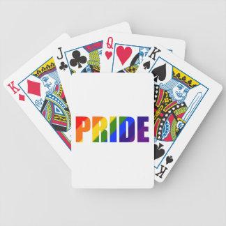 naipes de la bicicleta del orgullo del arco iris