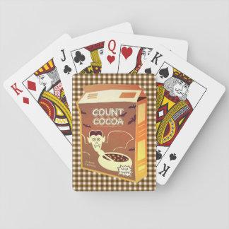 Naipes de la caja de cereal del cacao de la cuenta
