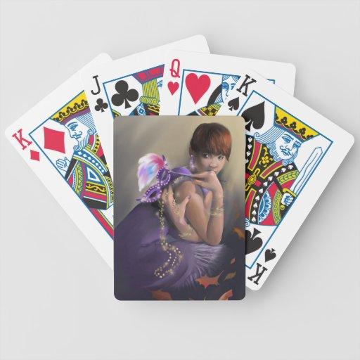 Naipes de la fascinación del otoño cartas de juego