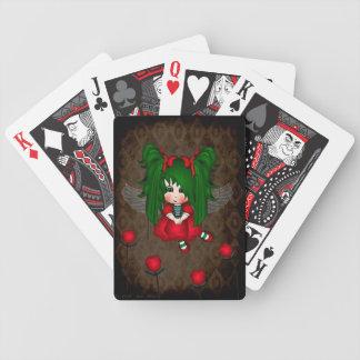 Naipes de la hada del capullo de rosa baraja cartas de poker