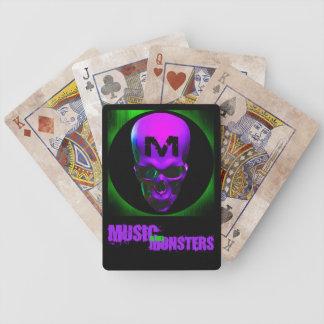 Naipes de la música y de los monstruos