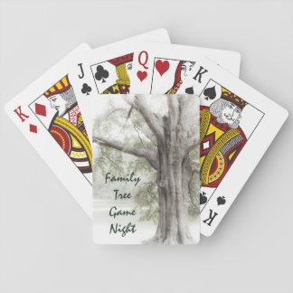 Naipes de la noche del juego del árbol de familia