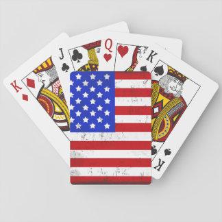 Barajas de cartas bandera americana - Baneras de obra ...