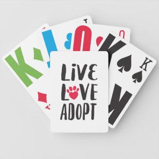 Naipes de la recaudador de fondos de la adopción