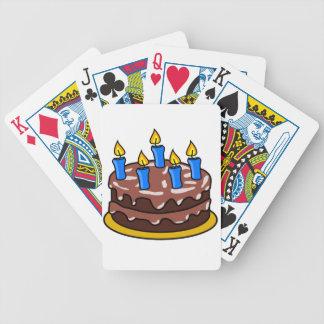 Naipes de la torta de cumpleaños cartas de juego