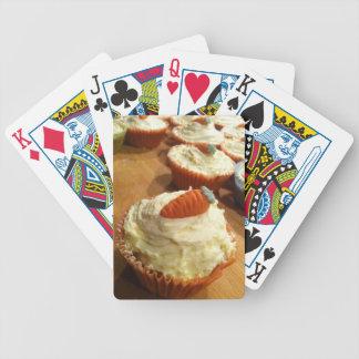 Naipes de la torta de zanahoria baraja cartas de poker