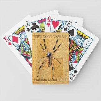 Naipes de la zona del Canal de Panamá con la araña