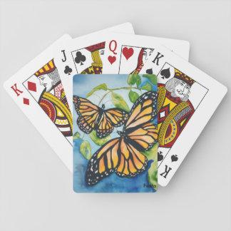 Naipes de las mariposas de monarca