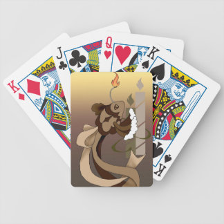 Naipes de los pescados de la torta de cumpleaños d baraja cartas de poker
